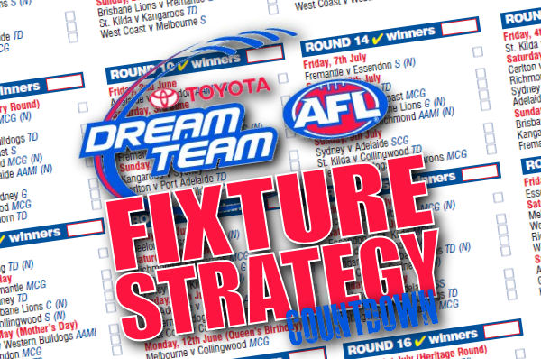 AFL Dream Team Fixture Strategy… Countdown