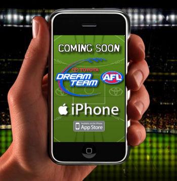 AFL Dream Team iPhone APP Confirmed
