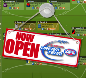 AFL Dream Team 2011: NOW OPEN!