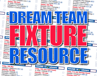 AFL Dream Team 2011 Fixture Resource