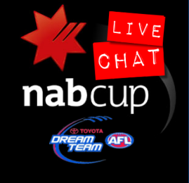NAB Cup: Round 1 (Week 1) Live Chat