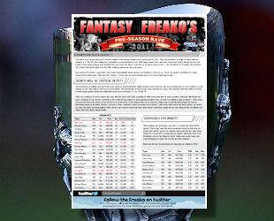 Fantasy Freako: Pre-season Rave #1