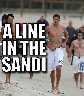 A line in the Sandi