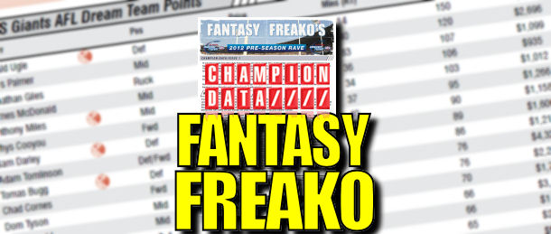 Fantasy Freako's Preseason Rave: Issue 1