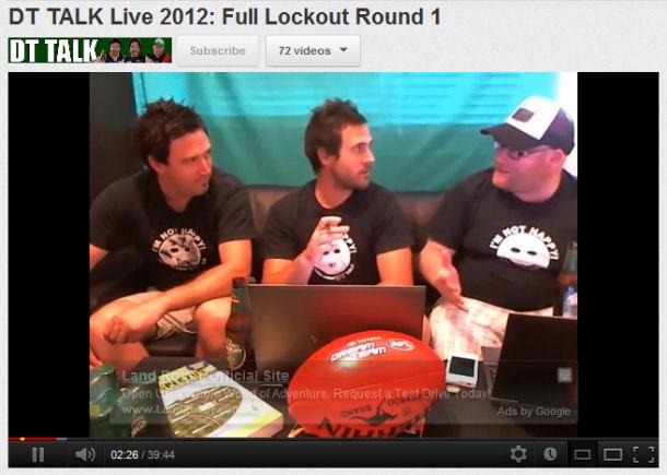 DT TALK Live 2012: Round 1 Lockout
