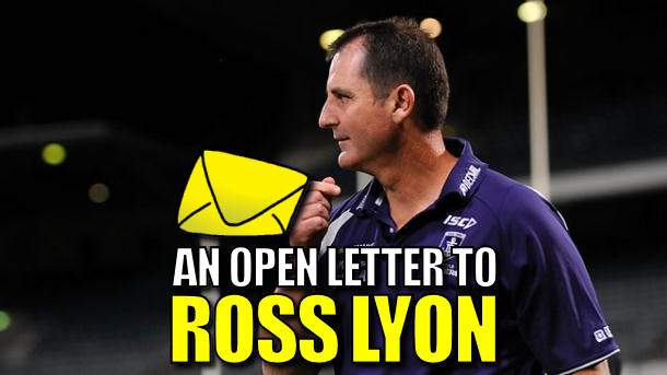 An open letter to… Ross Lyon