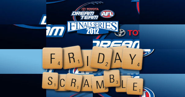 The Friday Scramble: Round 21