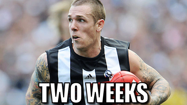 Dane Swan suspended for two weeks