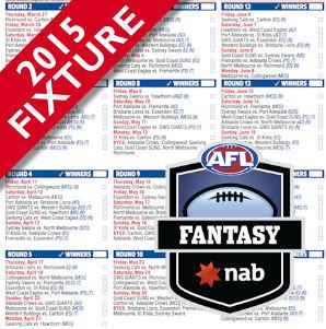 2015 AFL Fixture and Fantasy