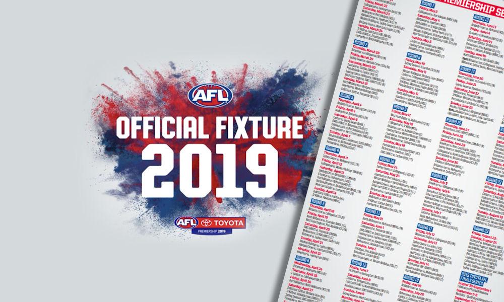 2019 AFL Fixture and Fantasy – DT TALK